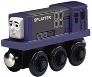 Thomas And Friends Wooden Railway   Splatter Diesel Engine: Toys & Games