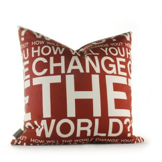 Inhabit Graphic Pillows Change the World Synthetic Pillow CTWCHxxP Size: 18