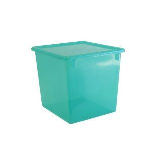 Romanoff Large Plastic Storage Container   Transparent Lime   Lidded Home Storage Bins