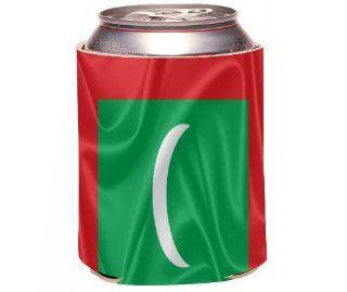 Rikki KnightTM Maldives Flag Design Drinks Cooler Neoprene Koozie Kitchen & Dining