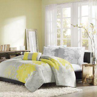 Home Essence Chloe 4 Piece Comforter Set, King, Yellow