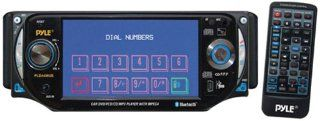 PYLE PLD44MUBT 4.3 Inch TFT Touch Screen DVD/VCD/CD/MP3/CD R/USB/ AM/FM/Bluetooth and Screen Dial Pad : Vehicle Video Monitors And Tvs : Car Electronics