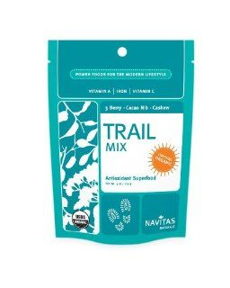 Navitas Naturals Organic 3 Berry, Cacao Nibs And Raw Cashew Trail Mix Trail Power, 16 Ounce Bag : Grocery & Gourmet Food
