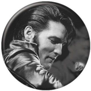Elvis Presley Black and White Leather Button 81103 [Toy] Toys & Games