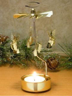 Spinning Angels Candle Holder Gold Scandinavian Design   Tea Light Holders