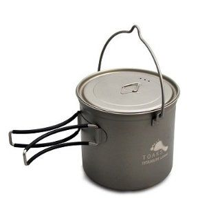 TOAKS Titanium 1100ml Pot with Bail Handle : Titanium Cooking Pot : Sports & Outdoors