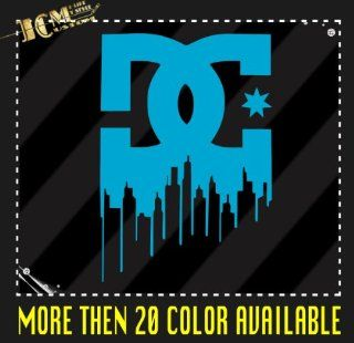 "DC Shoe Logo   Vinyl Decal Sticker / 6"" X 4.1"" (11 Light Blue, Vinyl Type   Permanent   Auto)   Wall Decor Stickers"