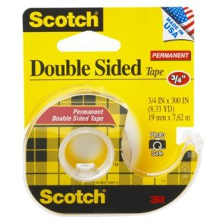 Scotch Double Sided Permanent Tape .75x300