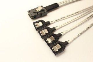 Pactech inc Internal Mini SAS 36Pin SFF 8087 to 4 X SATA 7P Latch Lack Connectors , 0.25Meter (AMPH 874S 025): Computers & Accessories