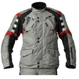 BMW Genuine Motorcycle Motorrad Rallye jacket, men's   Color Grey / Red   Size EU 52 US 42 Automotive