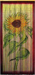 Asli Arts Model BCUSF907 Sunflower Painted Bamboo Curtain (Discontinued by Manufacturer) : Outdoor Decor : Patio, Lawn & Garden