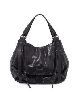 Jonnie Leather Hobo Bag, Black   Kooba