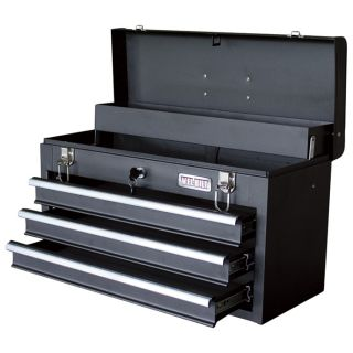 Wel-Bilt 20in. 3-Drawer Portable Steel Toolbox  Tool Boxes