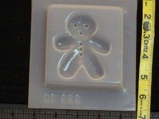 Gingerbread man reusable plastic resin mold 888   Candy Making Molds