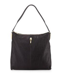 Pyramid Leather Hobo Bag, Black   Elizabeth and James