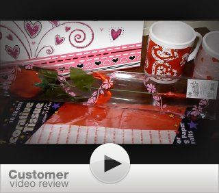 """Valentine Gift Set; Complete with Gift Bag, Tissue Paper, Red Rose, """"I Love You"""" Mini Bear, 2 Valentine Mugs & Balin """"I Love You"""" Milk Chocolate! : Grocery & Gourmet Food"""