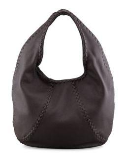 Cervo Leather Hobo Bag, Espresso   Bottega Veneta