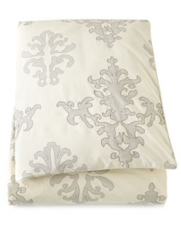 Queen Damask Duvet Cover, 92 x 96   Upstairs by Dransfield and Ross