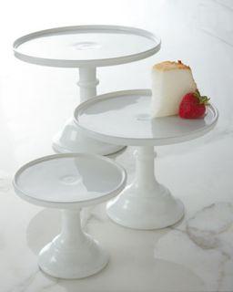 6 Milk Glass Cake Plate