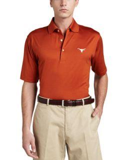 Mens University of Texas Longhorn Gameday Polo College Shirt, Orange   Peter