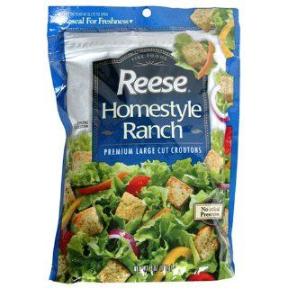 Reese Homestyle Ranch Croutons, 5 Ounce Bags (Pack of 12)  Salad Croutons  Grocery & Gourmet Food