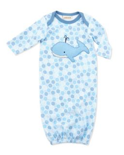 Whale Patch Jersey Sac Gown, Blue, 0 3 Months   Cach Cach