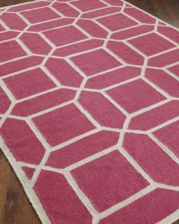 Octagonal Maze Flatweave Rug, 5 x 8   Exquisite Rugs
