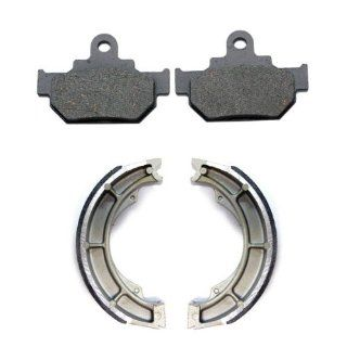 2005 2011 Suzuki LS650 Boulevard S40 650 Front & Rear Brake Pads and Shoes: Automotive