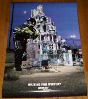 Arctic Cat Snowmobile Poster   Waiting for Winter   Prints