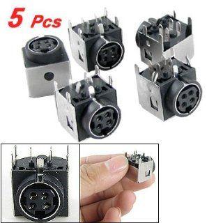 5 Pcs DC Female 4 Pin Mini DIN Power Jacks Sockets for Gateway M350 M675 Computers & Accessories