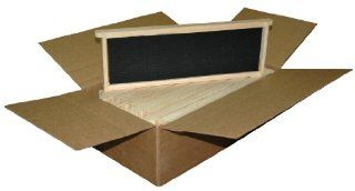 Mann Lake WW936 10 Pack Assembled Commercial Frames with Waxed Black Rite Cell Foundation, 6 1/4 Inch : Beekeeping Equipment : Patio, Lawn & Garden