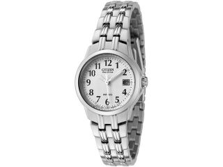 Citizen Women's Silhouette Eco Drive White Dial Stainless Steel