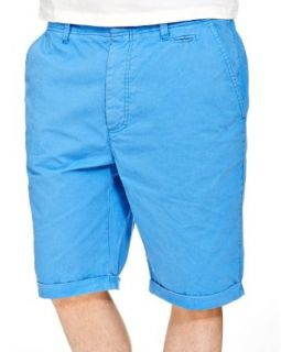 Kudo Men's Chino Shorts Small Blue at  Men�s Clothing store