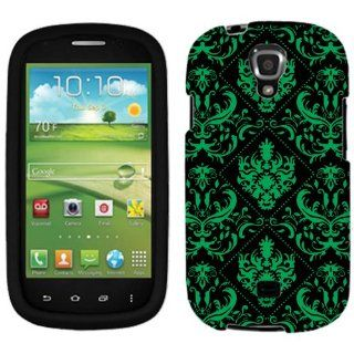 Samsung Galaxy Stratosphere II Green Damask on Black Phone Case Cover: Cell Phones & Accessories