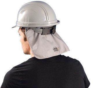 Hard Hat Cooling Pad w/ Neck Shade, Grey, One Size, Flame Retardant, #969   Hardhats