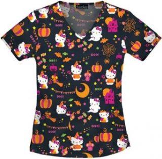 Tooniforms Women's Halloween V Neck Scrub Top Clothing