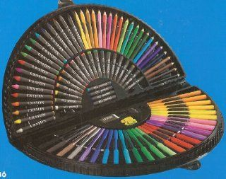 Art Set ~ Oil Pastels / Colored Pencils / Markers / Crayons / Paper Clips / Sharpener / Eraser ~ 101 Pieces Toys & Games