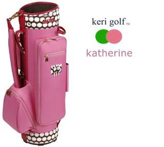Keri Golf Katherine Cart Bag (Matching Tote BagSold Out   Polka Dotty Tote Bag, Matching 4 Piece Headcover SetDo not include, Matching Y & Z HeadcoversInclude Azalea Y & Z Headcovers)  Golf Equipment  Sports & Outdoors