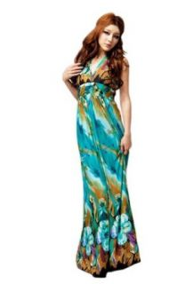 Sofishie Women's Bohemian V Shape Long Maxi Dress with Floral Print at  Women�s Clothing store: