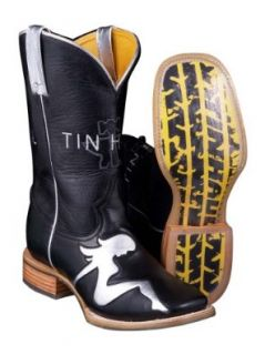 Tin Haul Mens Mudflap Girl Graphic Sole Western Cowboy Boots: Shoes