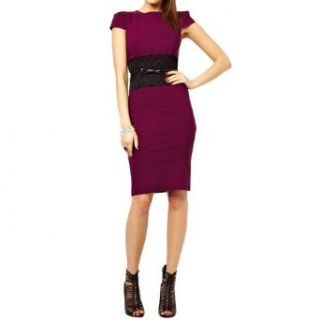 Little Hand Womens Lace Trimmings Over Hip Color Block OL Evening Dress at  Women�s Clothing store