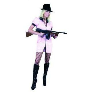 White Sexy Gangster Girl Costume Size: Women's X Small 3 5: Clothing
