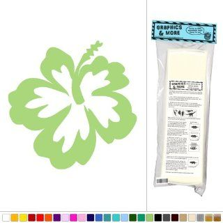 Hibiscus Flower   Tropical Hawaii   Vinyl Sticker Decal Wall Art Decor   Olive  Business And Store Signs