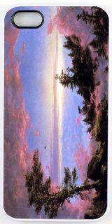Rikki KnightTM Frederick Edwin Church Art Above the Clouds at Sunrise Design iPhone 5 & 5s Case Cover (White Rubber with bumper protection) for Apple iPhone 5 & 5s: Cell Phones & Accessories