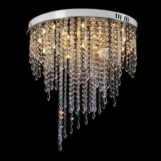 """20"""" Morden Creative LED Crystal Hanging stainless Steel Round Top celling lamp dining room celling lamp Hotel Lobby celling lamp   Ceiling Pendant Fixtures"""