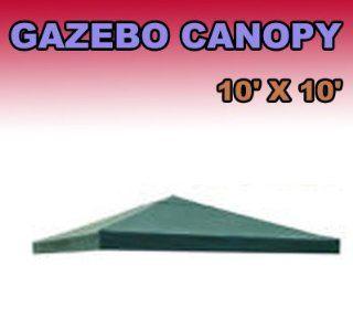 New Outdoor Patio Tivoli 10x10 Green Gazebo Replacement Canopy Top G416  Patio, Lawn & Garden
