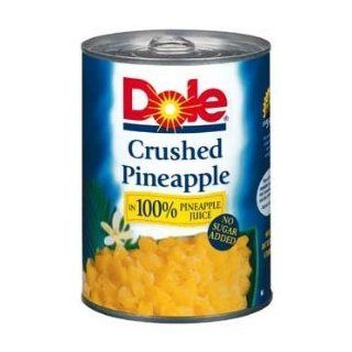 Dole Crushed Pineapple in 100% Juice, No Sugar Added 20 Oz (Pack of 4) : Canned And Jarred Pineapples : Grocery & Gourmet Food