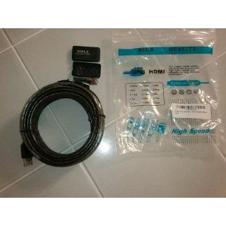 33ft 10M USB 2.0 A Male to A Female Active Extension / Repeater Cable (Kinect & PS3 Move Compatible Extension) 109191 109191, computer connect camera cable problem signal adapter printer extension great device power kinect Computers & Accessories