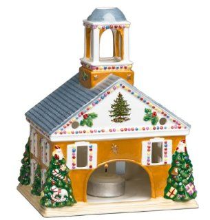 Spode World of Christmas Figural Town Hall Votive Holder   Christmas Decor