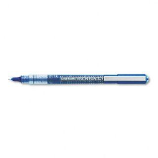 uni ball Products   uni ball   Vision Exact Roller Ball Stick Water Proof Pen, Blue Ink, Fine   Sold As 1 Each   Exclusive Uni flow ink system.   Features Uni Super InkTM that helps prevent against check and document fraud.   Translucent rubber grip.   Pre
